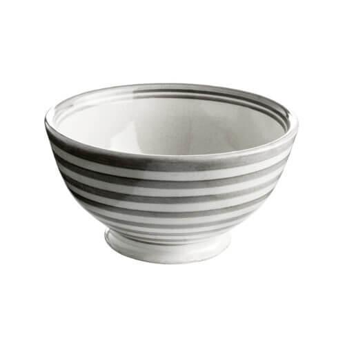 TineK Schale CEBOWL Streifen Grau-Weiß