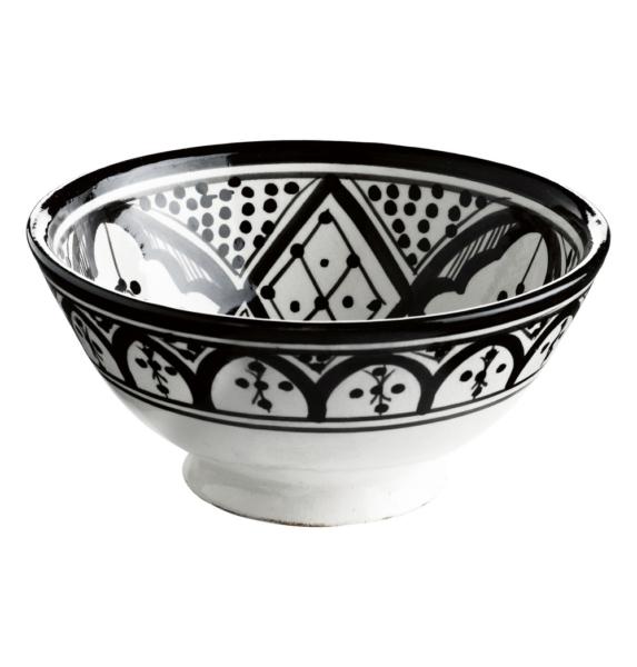 tinek home collection schale im marokkanischen schwarz wei muster stil. Black Bedroom Furniture Sets. Home Design Ideas