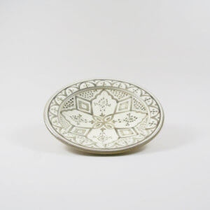 Tine K Home Teller Grau Weiß/Beige – Ø 25 cm