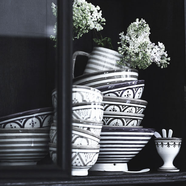 tine k home schale cebowl black white 15. Black Bedroom Furniture Sets. Home Design Ideas