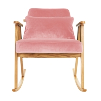 366 rockingchair schaukelstuhl kollektion velvet stil for Schaukelstuhl pink