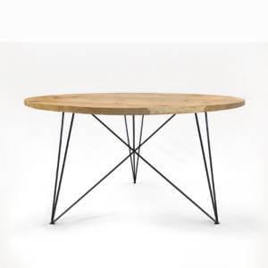 Tisch designklassiker  Esstisch Steel Oak – Massive Eiche & Design-Stahlgestell » STIL