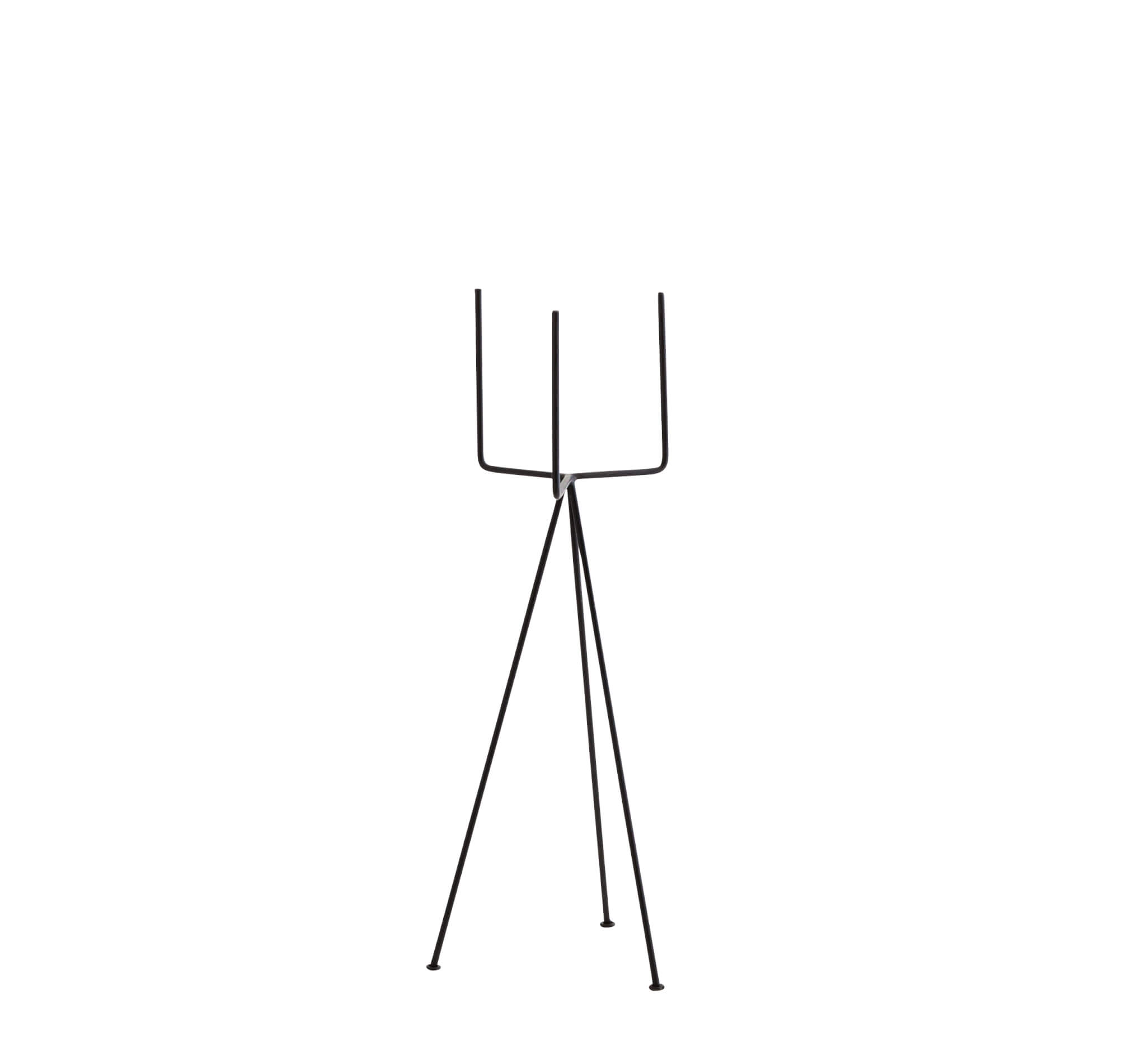 madam stoltz blumenst nder schwarz gro 18 x h 50 cm. Black Bedroom Furniture Sets. Home Design Ideas