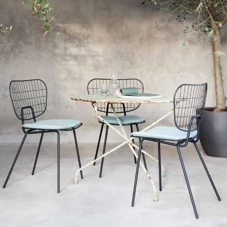 Menu stuhl wm string dining chair white draht stuhl for Draht stuhl design