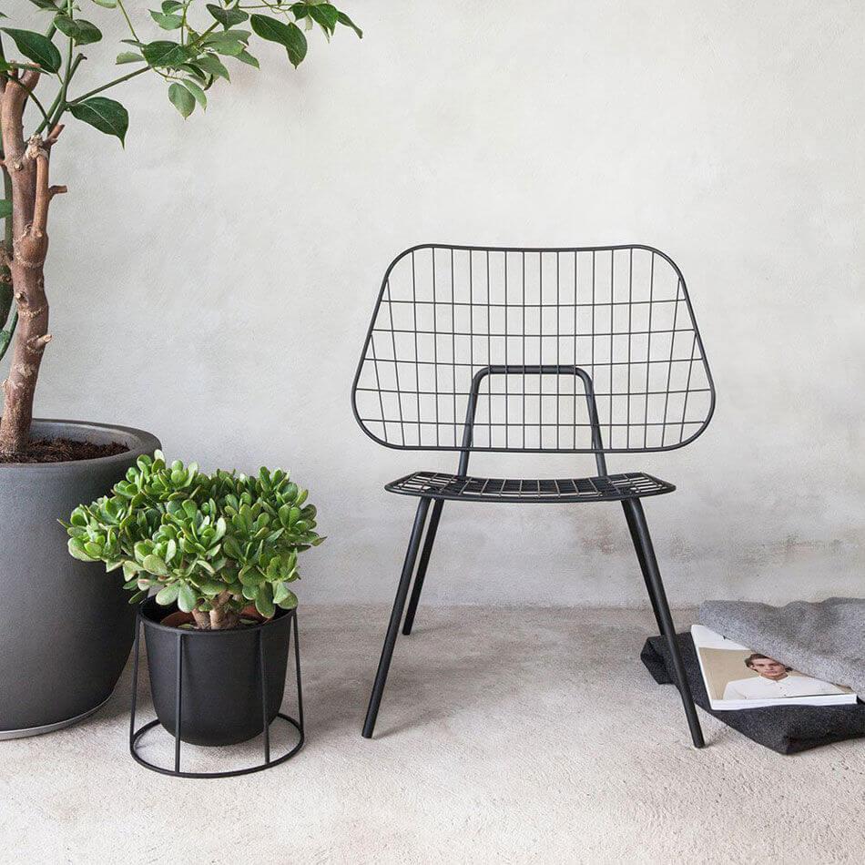 Menu stuhl wm string dining chair white draht stuhl for Design stuhl draht