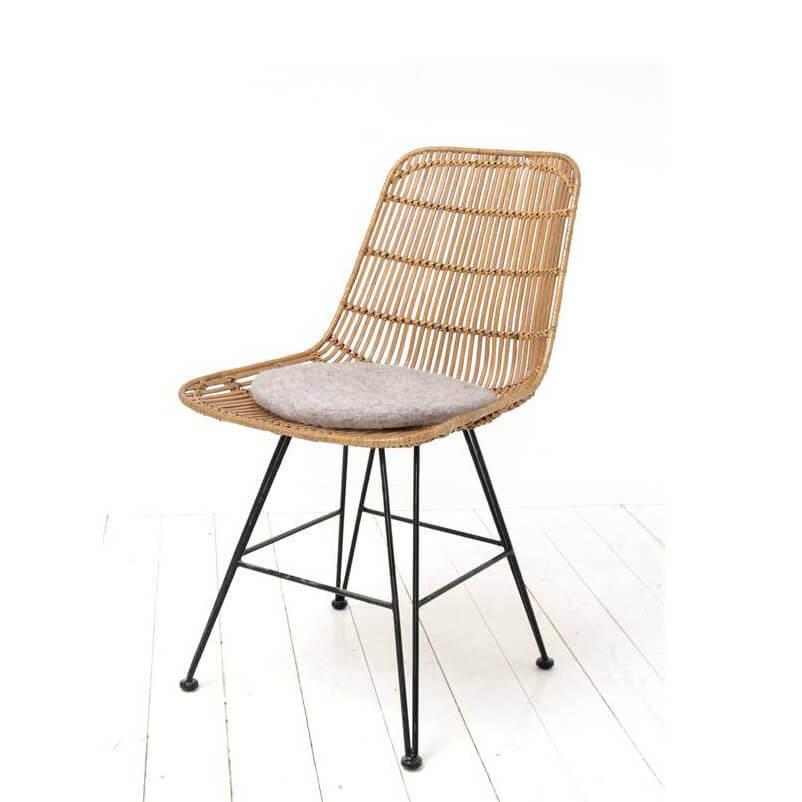 hk living stuhlkissen in filz hellgrau 35 cm. Black Bedroom Furniture Sets. Home Design Ideas