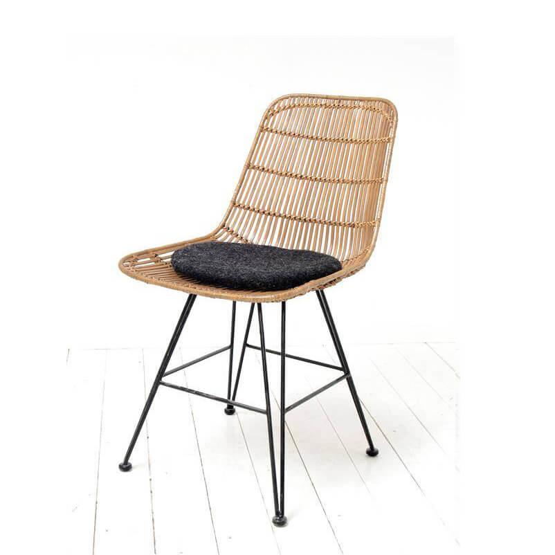 hk living stuhlkissen in filz dunkelgrau. Black Bedroom Furniture Sets. Home Design Ideas