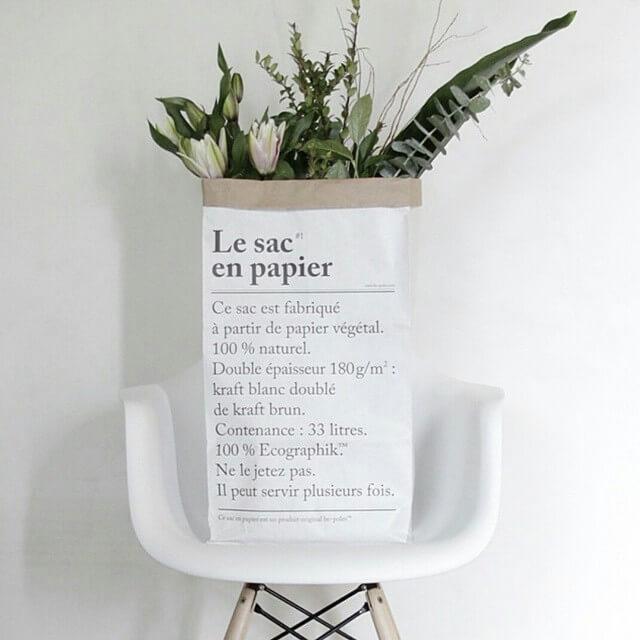 le petit sac en papier paper bag small volumen 19 l. Black Bedroom Furniture Sets. Home Design Ideas