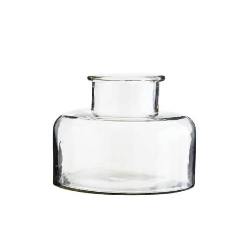 Madam Stoltz Glas-Vase mit breiten Boden