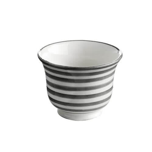 TineK BecherStreifen Grau-Weiß