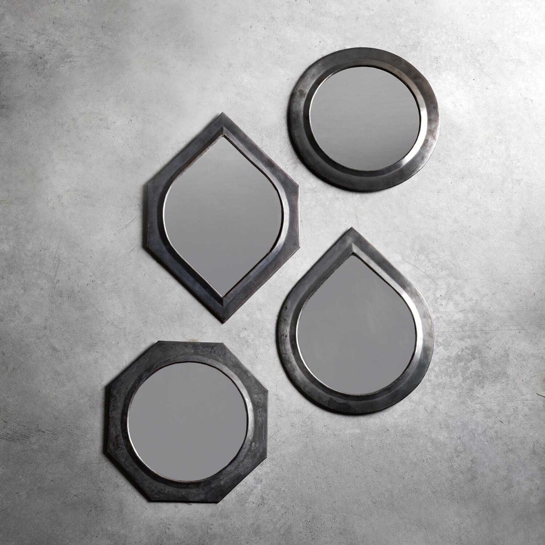 Tine K Home Spiegel Set – 4 graphische Formen – L