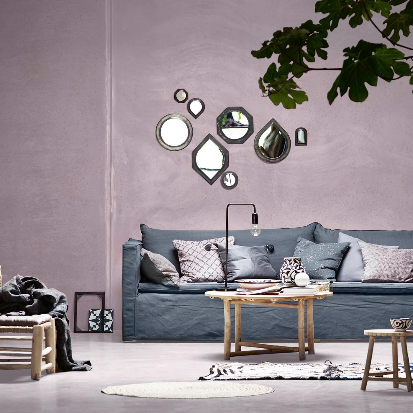tine k home spiegel set 4 graphische formen big ca 30 x 30 cm. Black Bedroom Furniture Sets. Home Design Ideas