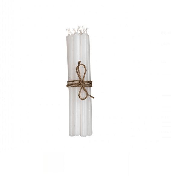 Broste Copenhagen 8tlg. Kerzen Set Weiß