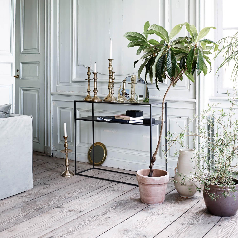 tine k home konsole metall schwarz t 35 x l 100 x h 85. Black Bedroom Furniture Sets. Home Design Ideas