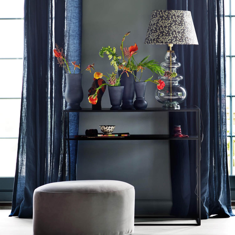 tine k home konsole metall schwarz b 35 x l 100 x h 85. Black Bedroom Furniture Sets. Home Design Ideas