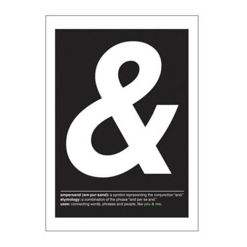 Poster – ampersand & – Black&White