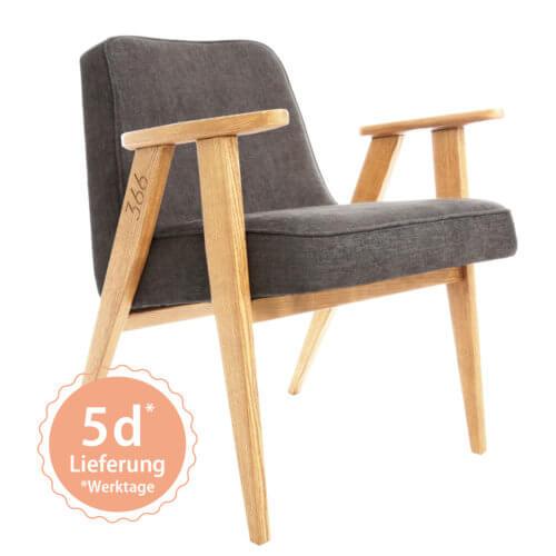 366 Armchair Sessel – Variante Loft Grey
