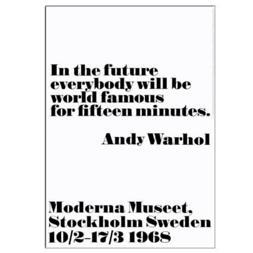 Andy Warhol – Poster In the future