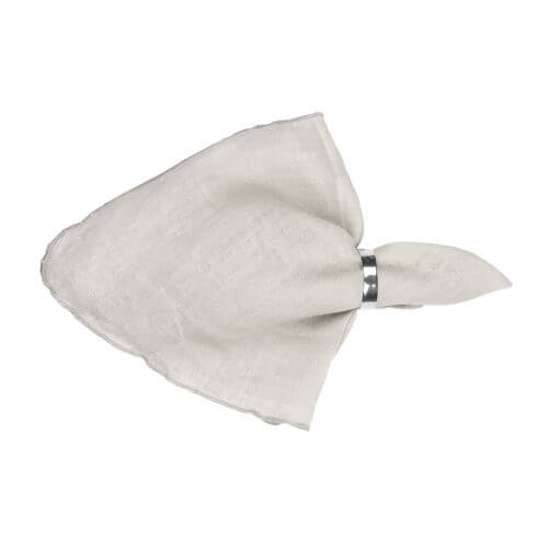 Broste Copenhagen – GRACIE Serviette – Light Grey