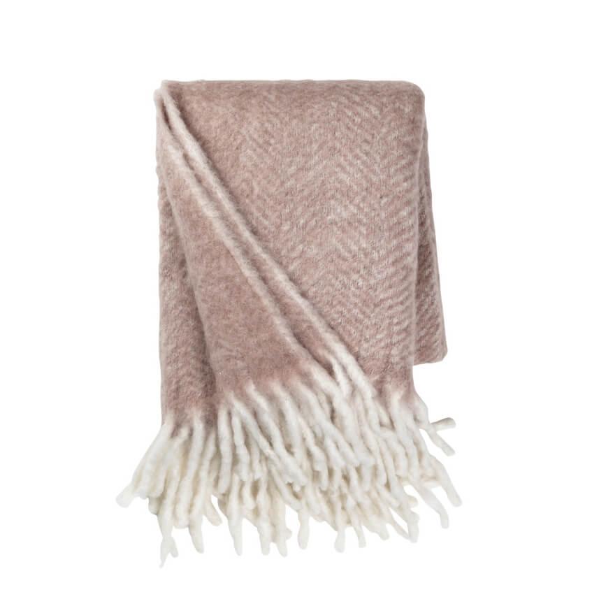 Cozy Living Copenhagen – Decke Mohair Melange Powder