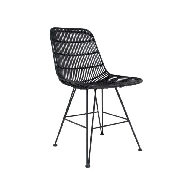 hk living stuhl rattan schwarz stil. Black Bedroom Furniture Sets. Home Design Ideas