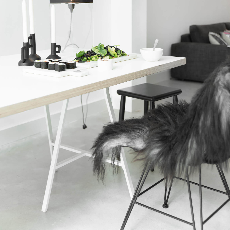 HK Living Rattan-Stuhl Schwarz