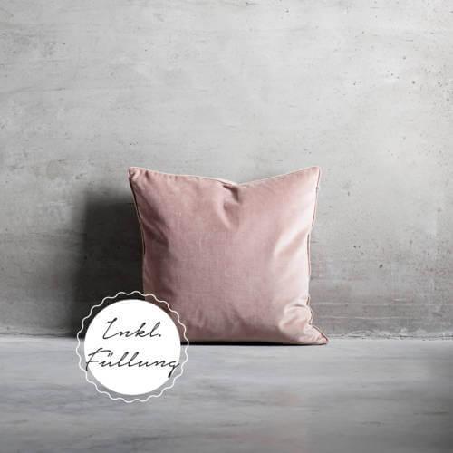 Tine K Home Collection – Kissen Rosé Samt