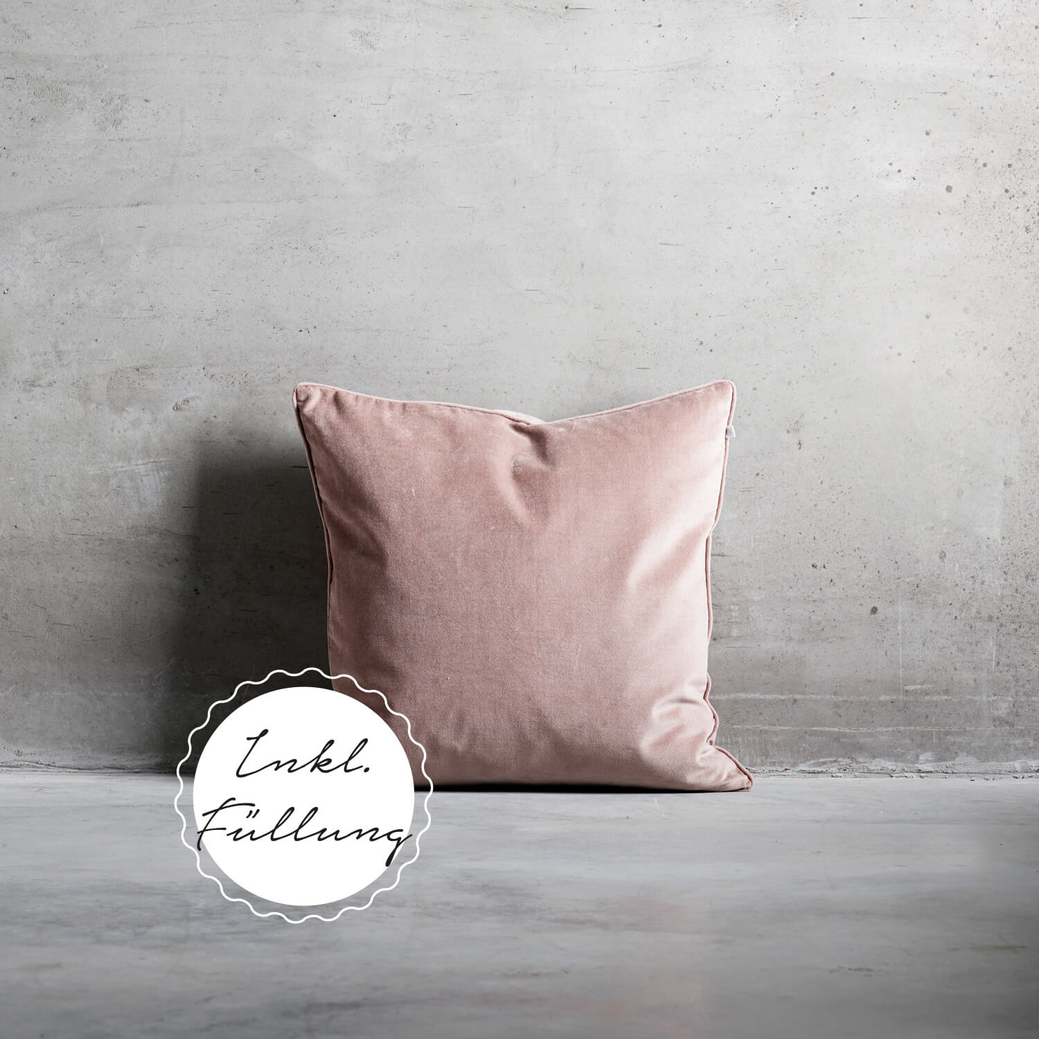 Tine K Home Collection – Kissen Rosé Samt
