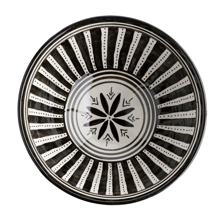 tine k home salatschale cesalad30 bl black white. Black Bedroom Furniture Sets. Home Design Ideas