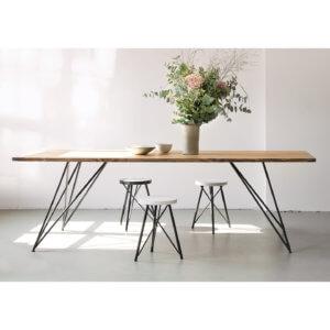 Esstisch Slim Oak – Eiche & Design-Stahlgestell