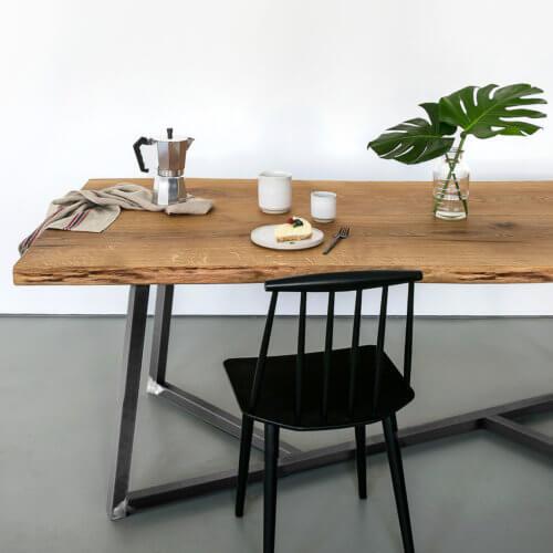 Tisch Steel Oak