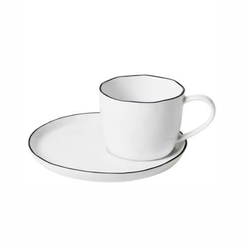 Broste Copenhagen – Geschirr SALT Tasse + Unterteller L