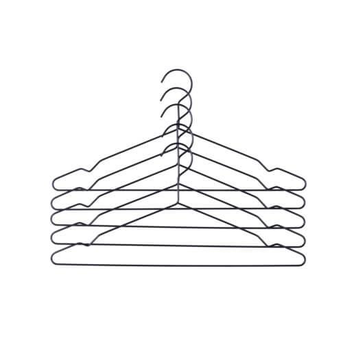 HAY – Hang – Kleiderbügel – Black – 5er Set