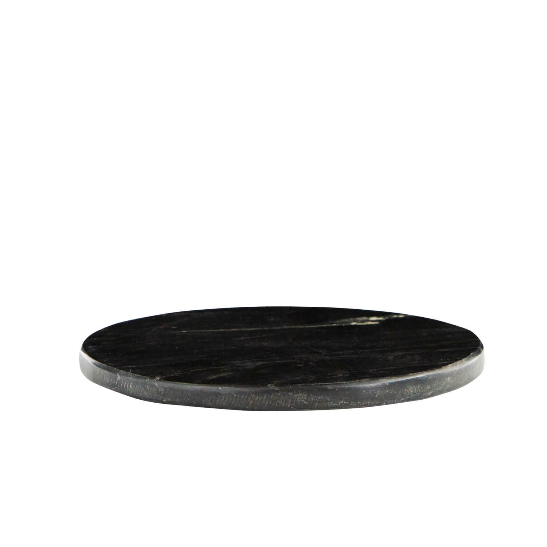 Madam Stoltz – Rundes Marmor-Schneidbrett – Black