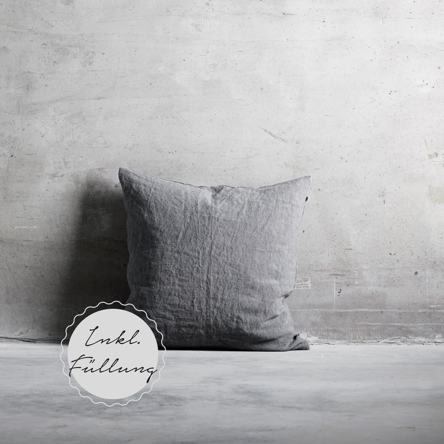 Tine K Home Collection – Kissen Grey Leinen