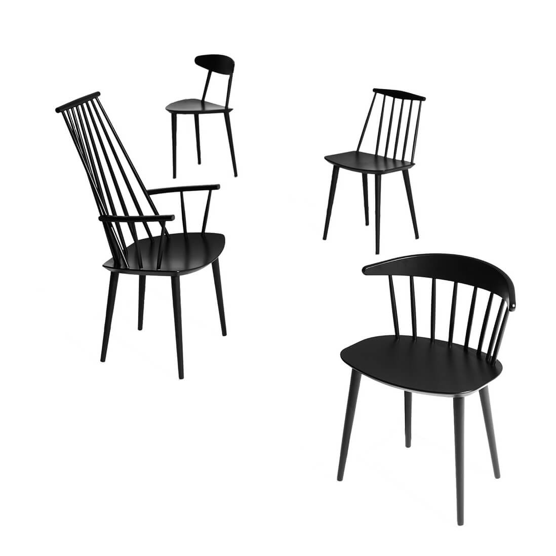 hay j77 chair fdb black by designer folke p lsson. Black Bedroom Furniture Sets. Home Design Ideas