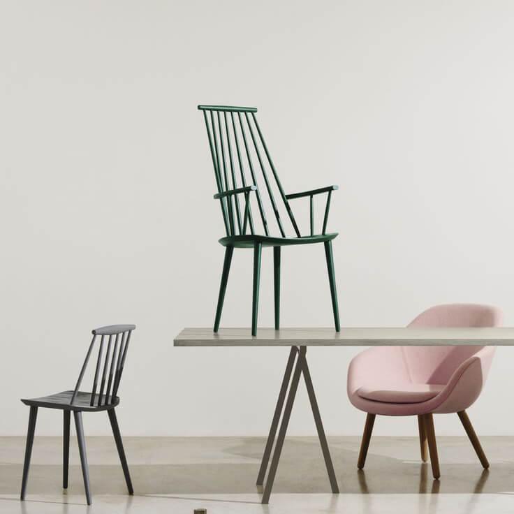 Alle nye HAY – Chair J110 White – Kultdesigner Jøergen Bækmark– Sitzhöhe 44,5cm IN-36