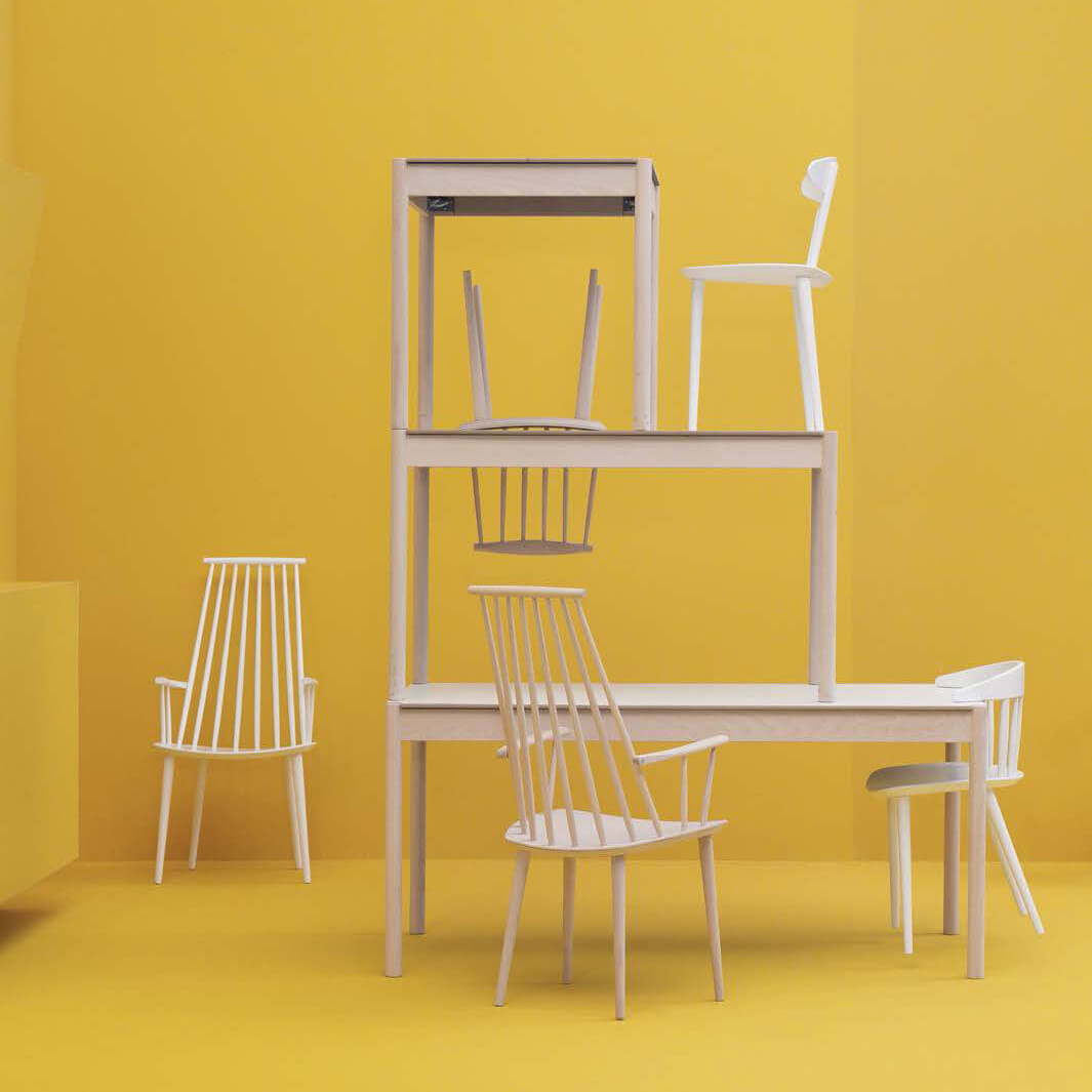 hay chair j110 white kultdesigner j ergen b kmark. Black Bedroom Furniture Sets. Home Design Ideas