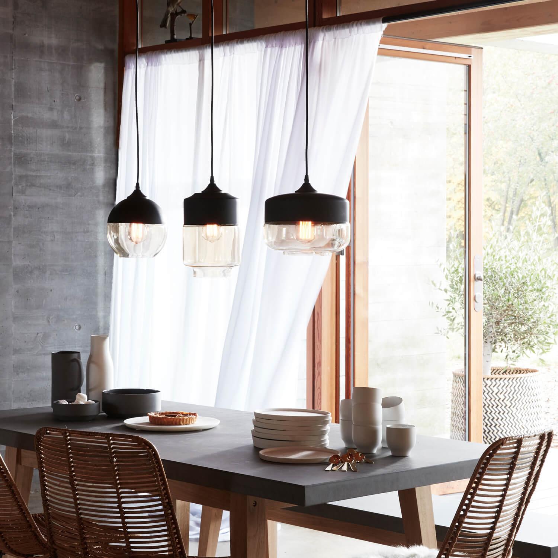 h bsch interior pendelleuchte shape 3 black glas amber. Black Bedroom Furniture Sets. Home Design Ideas