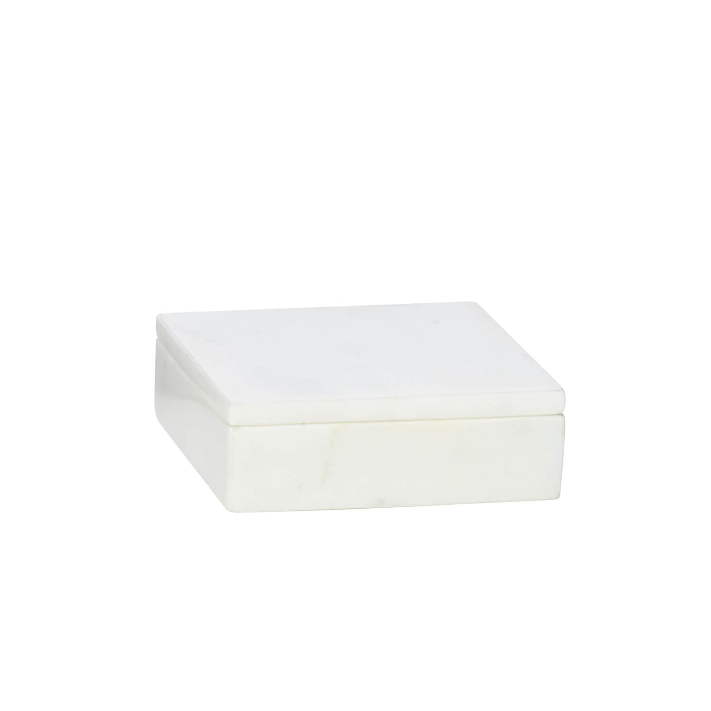 Madam Stoltz – Box Marmor – White