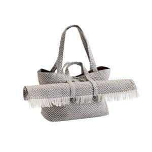 Madam Stoltz – Strandtasche inkl. Strandmatte