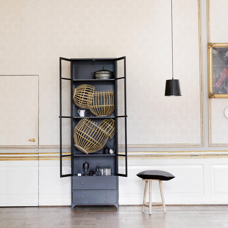 tine k home metallschrank in anthrazit schwarz. Black Bedroom Furniture Sets. Home Design Ideas