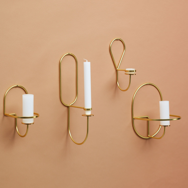 HAY – Lup Wand-Kerzenhalter – Messing