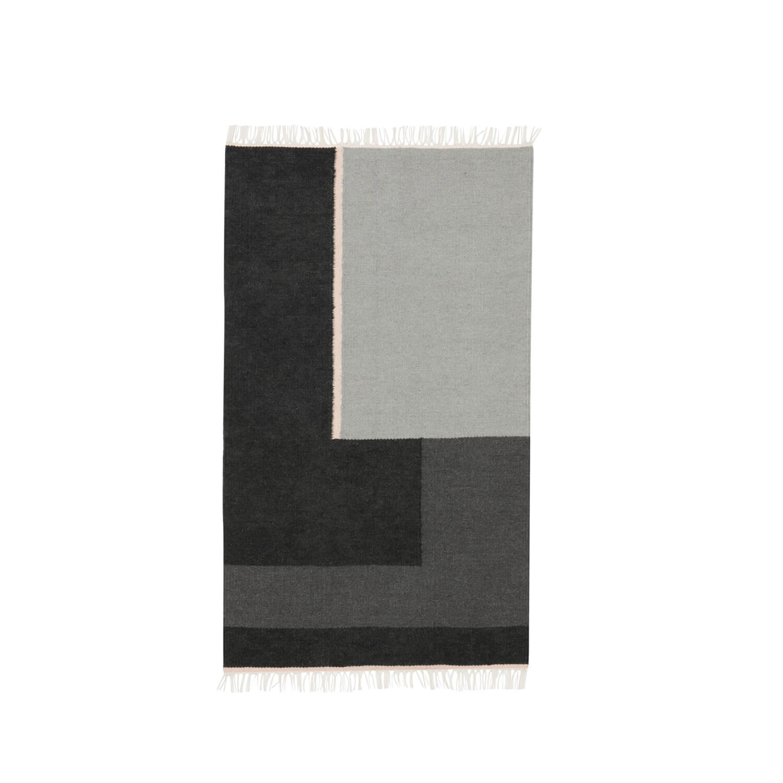 ferm living kelim teppich section s grau ca b 80 x. Black Bedroom Furniture Sets. Home Design Ideas
