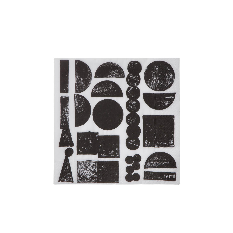 Ferm Living - Papierserviette Stempeldruck