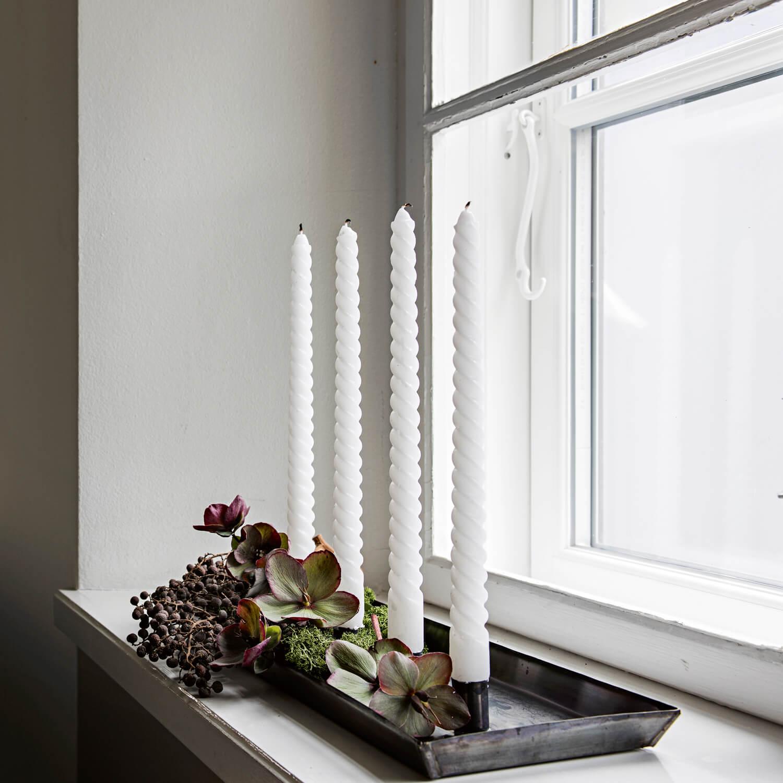 Tine K Home – Kerzenhalter Messing (Oxidiert)