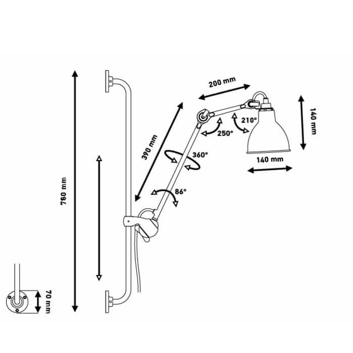 DCW – Les Acrobates de Gras – Wandleuchte NO 210