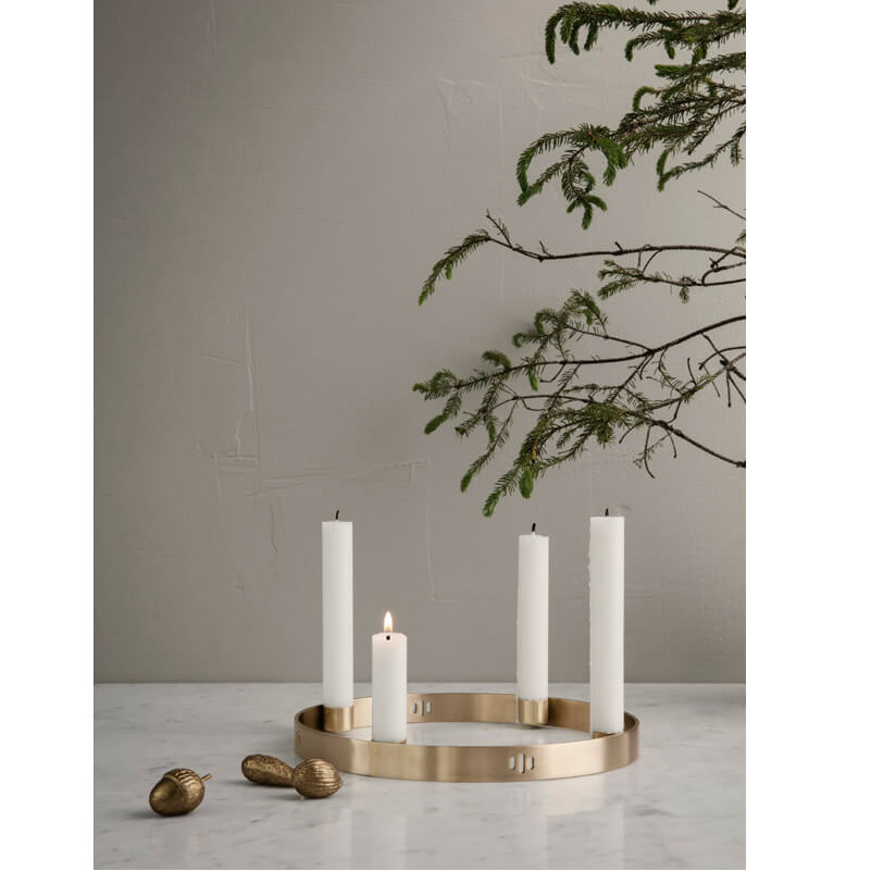 Ferm LIVING – Adventskranz Circle – Messing – Small
