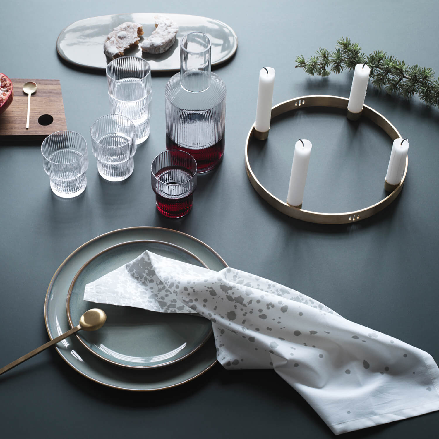 Ferm LIVING – Adventskranz Circle – Messing