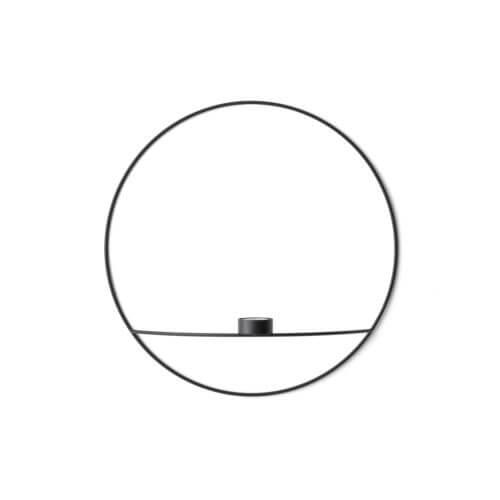 MENU Teelichthalter POV Circle Schwarz